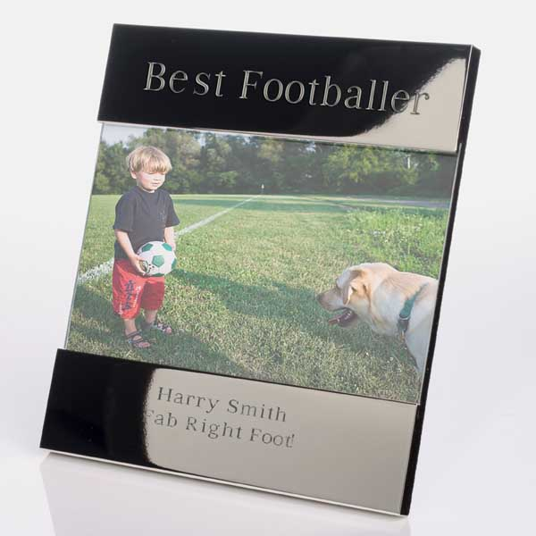Engraved Best Footballer Photo Frame