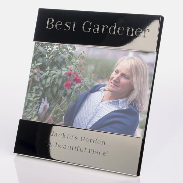 Best Gardener Engraved Photo Frame - Gardening Gifts