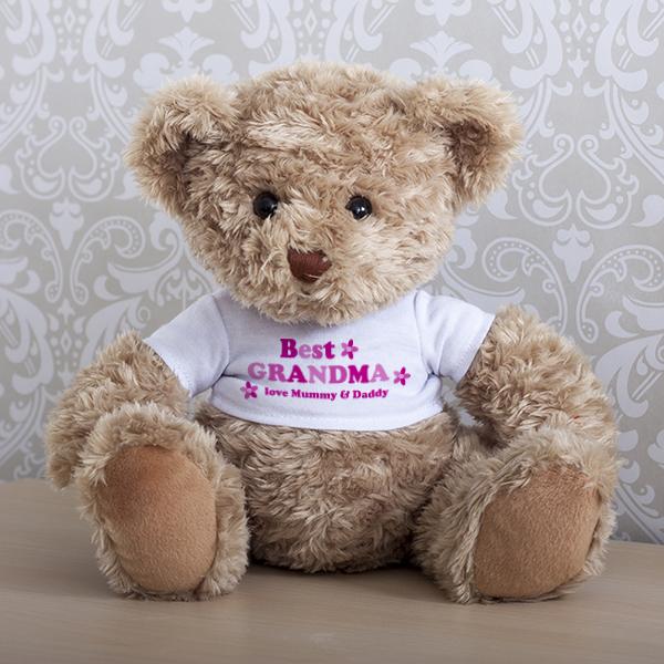 Personalised Best Grandma Teddy Bear - Grandma Gifts