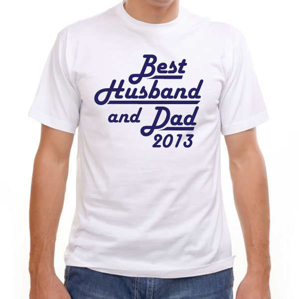 Best Husband and Dad Personalised T-Shirt Small 38 - Husband Gifts