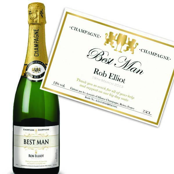 Best Man Personalised Champagne Luxury Gift Box