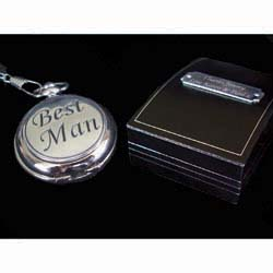 Fob Watch With Personalised Gift Box Father of The Bride