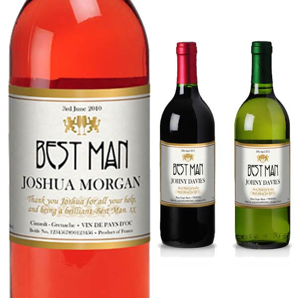 Best Man Personalised Wine Luxury Gift Box - Best Man Gifts