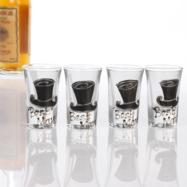 Best Wedding Gift Experiences : Best Man Shot Glasses Weddings Best Man Usher Fathers price comparison