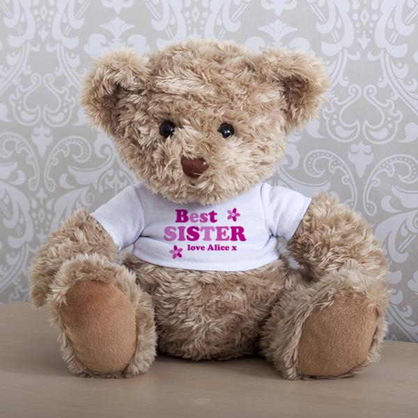 Personalised Sister Teddy Bear - Sister Gifts