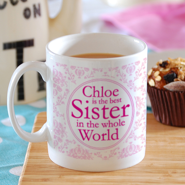 Best Sister in the World Personalised Mug - Sister Gifts