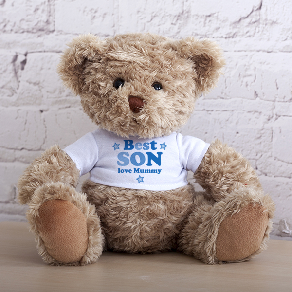 Personalised Best Son Teddy Bear - Son Gifts