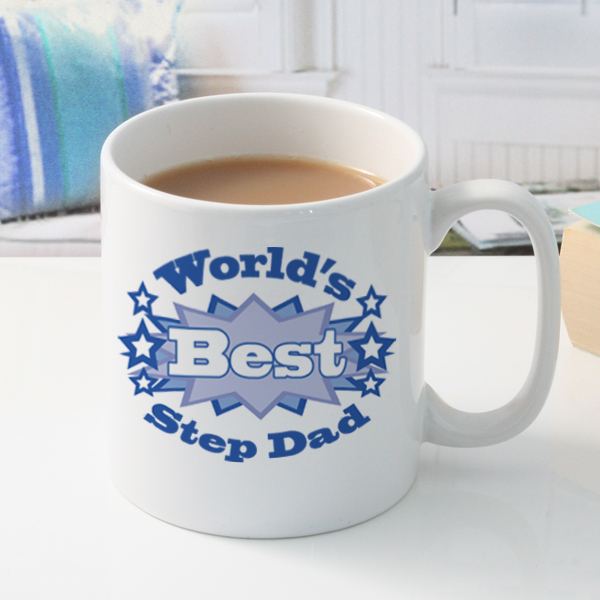 Worlds Best Step Dad Personalised Mug - Dad Gifts