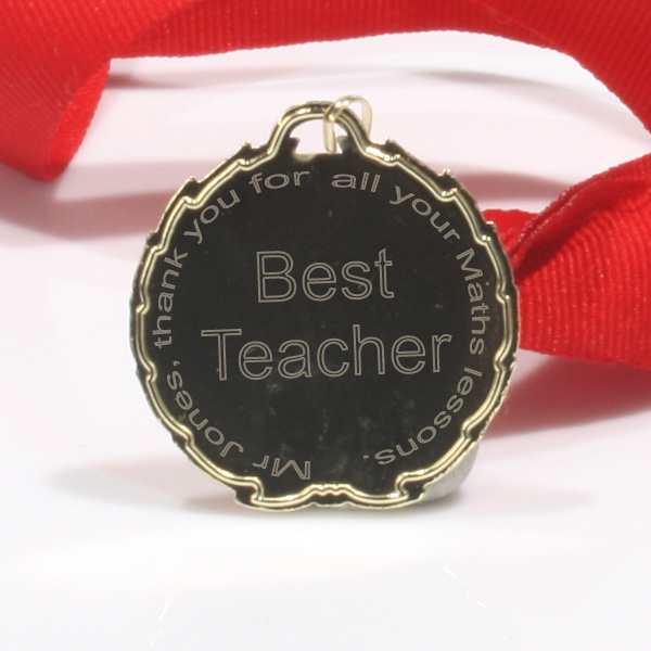 Best Teacher Medal Ribbon