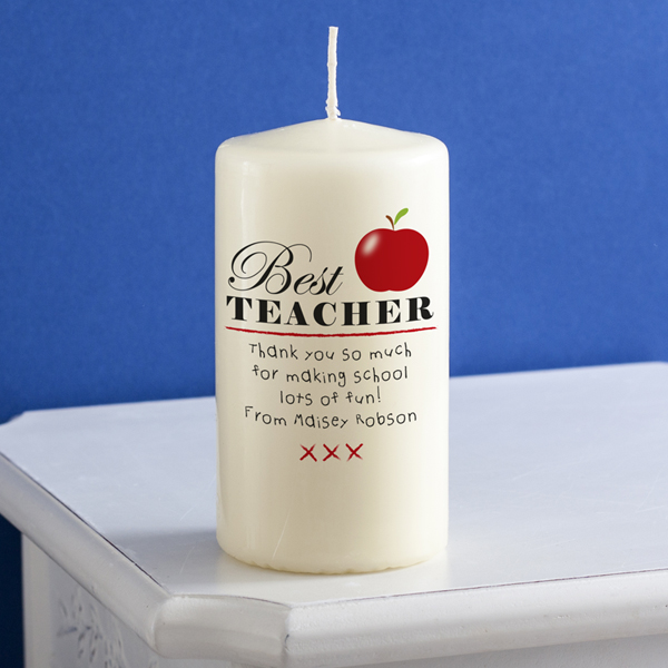 Personalised Best Teacher Candle - Teacher Gifts