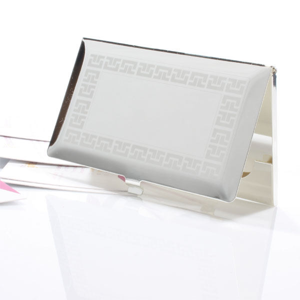 Personalised Bevelled Business Card Holder - Business Gifts