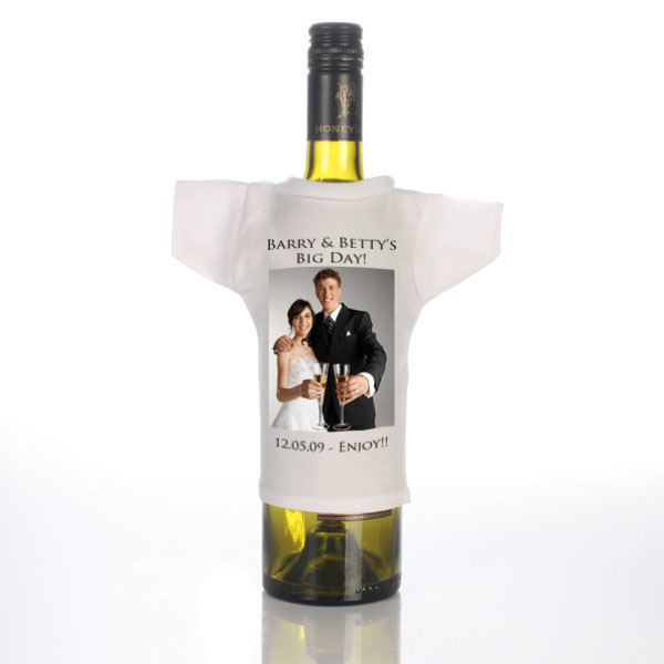 Wedding Day Personalised Wine Bottle T-Shirt - Wedding Gifts