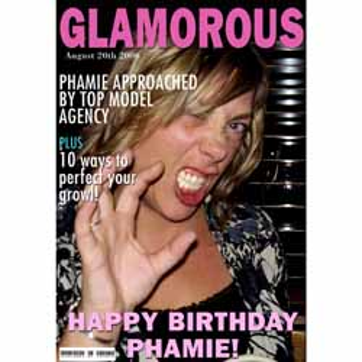 Birthday Magazine Cover