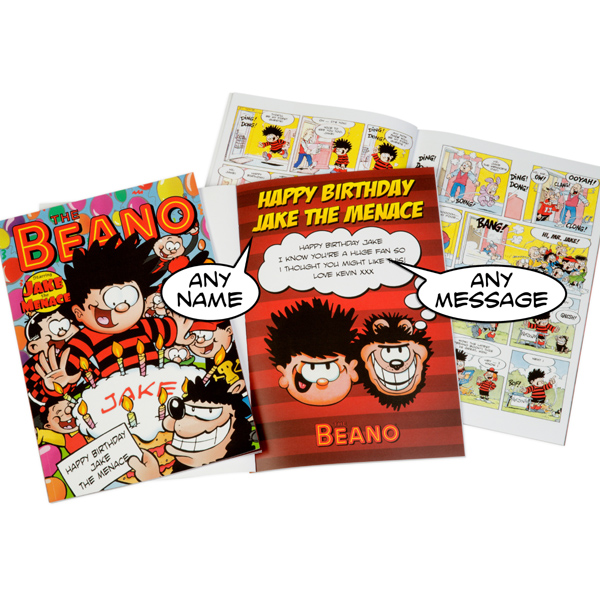 Personalised Beano Happy Birthday Book Beano Book - Soft back - Beano Gifts