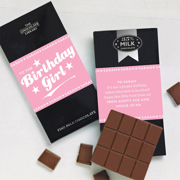 Birthday Girl Personalised Chocolate Bar