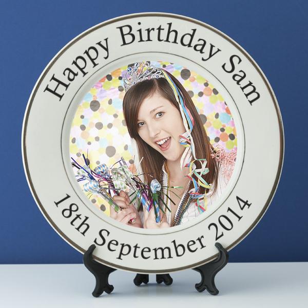 Personalised Birthday Photo Plate