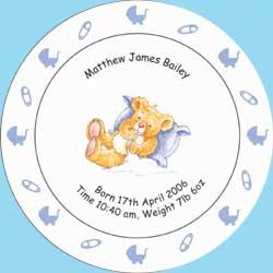 Birth / Christening Plate Blue