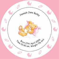 Birth / Christening Plate Pink