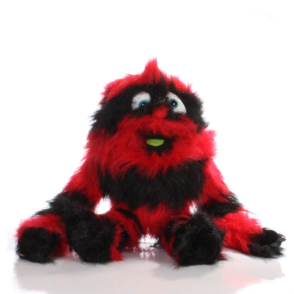 Red and Black Monster Puppet - Soft Toys Gifts