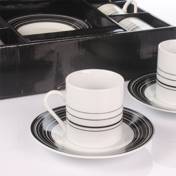 Black and White Espresso Set