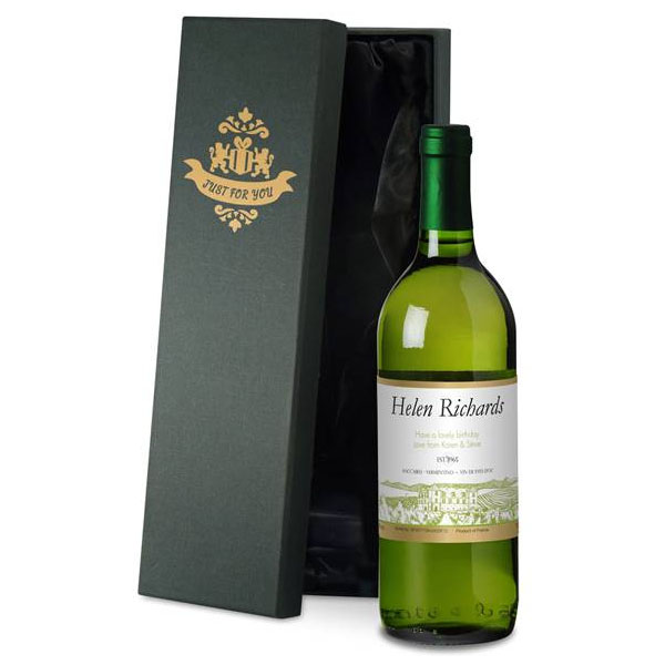 Personalised French White Wine Case Of 12
