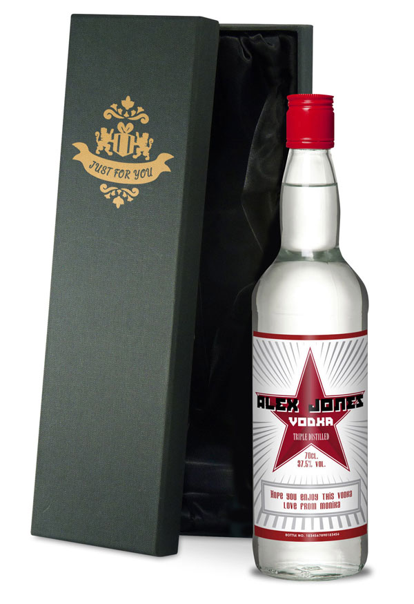 Personalised Vodka Luxury Gift Box - Personalised Gifts