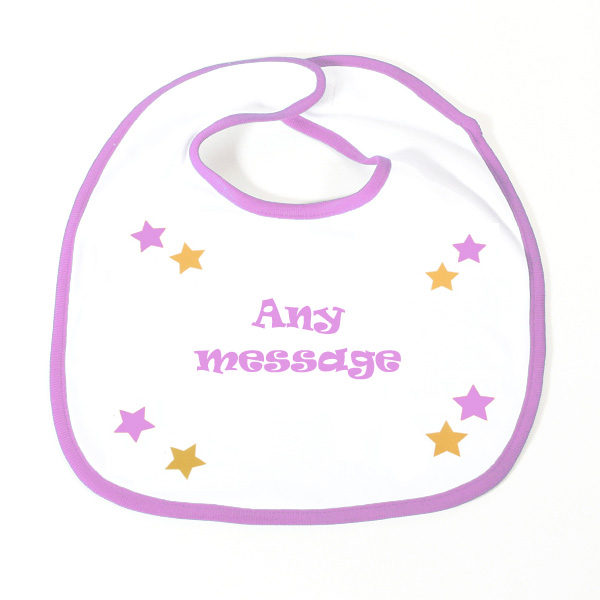 Slogan Baby Bib Girl