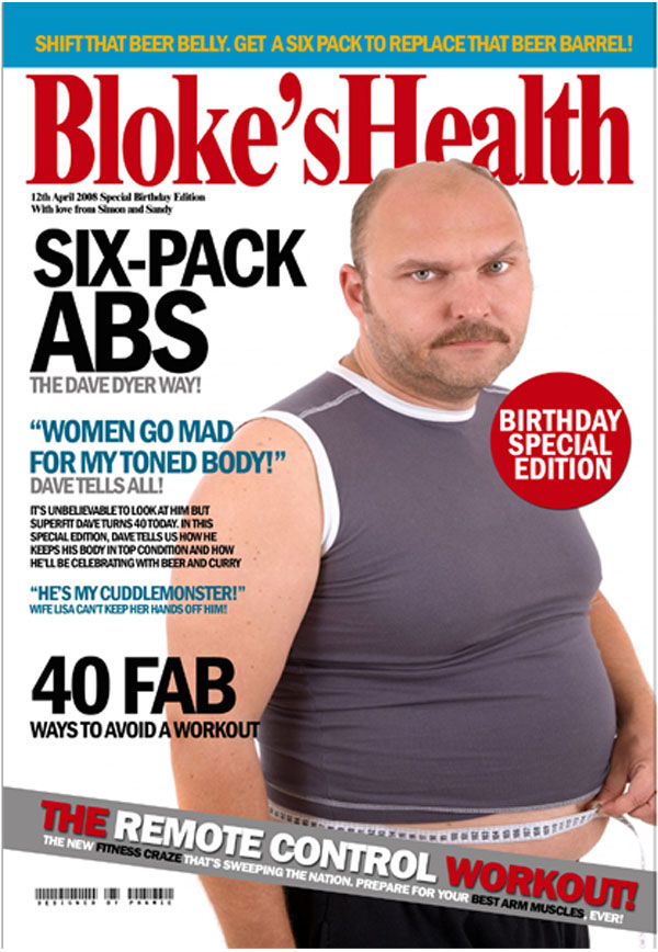 Personalised Male Birthday Magazine Covers Blokes Health - Birthday Gifts