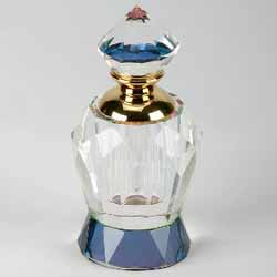 Diamond Top Crystal Perfume Bottle