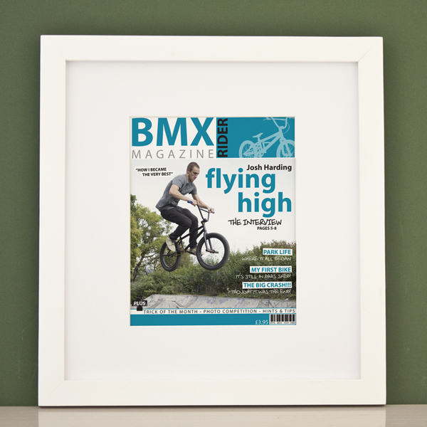 Personalised BMX Magazine Cover Framed Print - Bmx Gifts