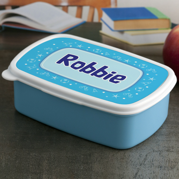 Personalised Boys Name Lunch Box