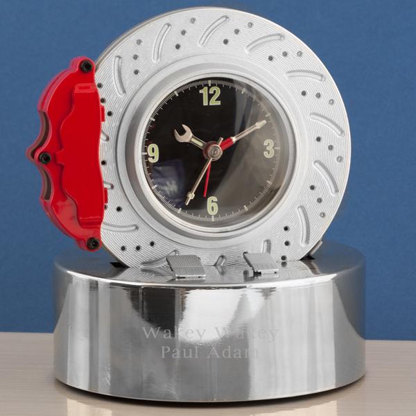 Personalised Brake Disc Alarm Clock - Alarm Clock Gifts
