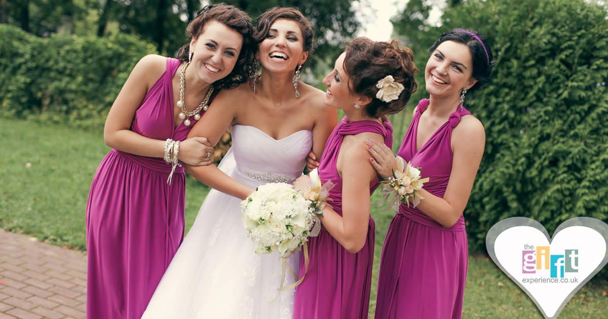Bride and bridesmaids at a wedding