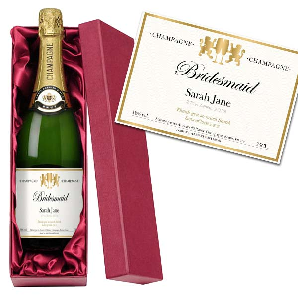 Bridesmaid Personalised Champagne Luxury Gift Box