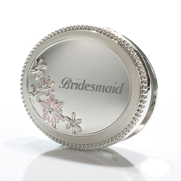 Personalised Bridesmaid Compact Mirror - Mirror Gifts