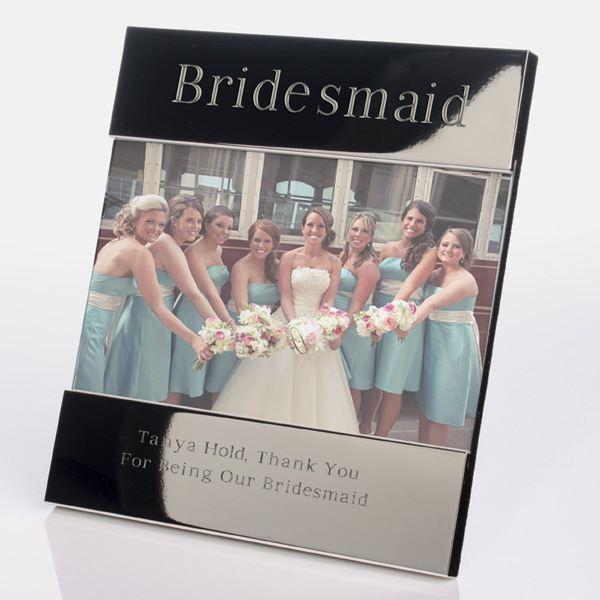 Bridesmaid shiny silver frames