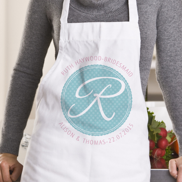 Personalised Bridesmaid Initial Apron