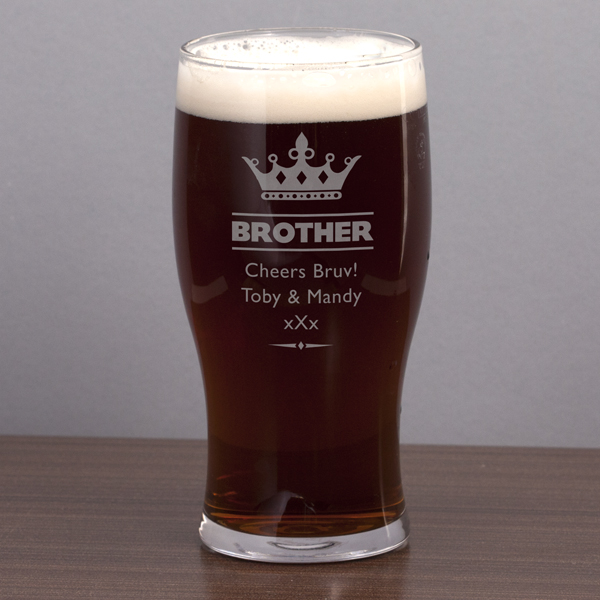 Brother Personalised Pint Glass - Brother Gifts