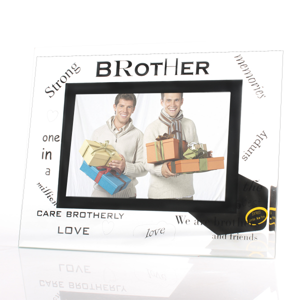 Brother Glass Photo Frame - Brother Gifts