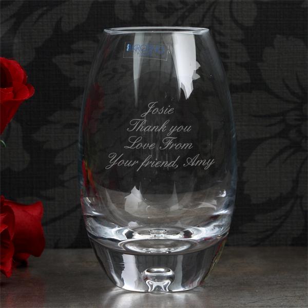 Personalised Handmade Barrel Bubble Base Mini Vase - Handmade Gifts