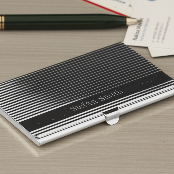 Amsterdam Engraved Business Card Holder - Business Gifts