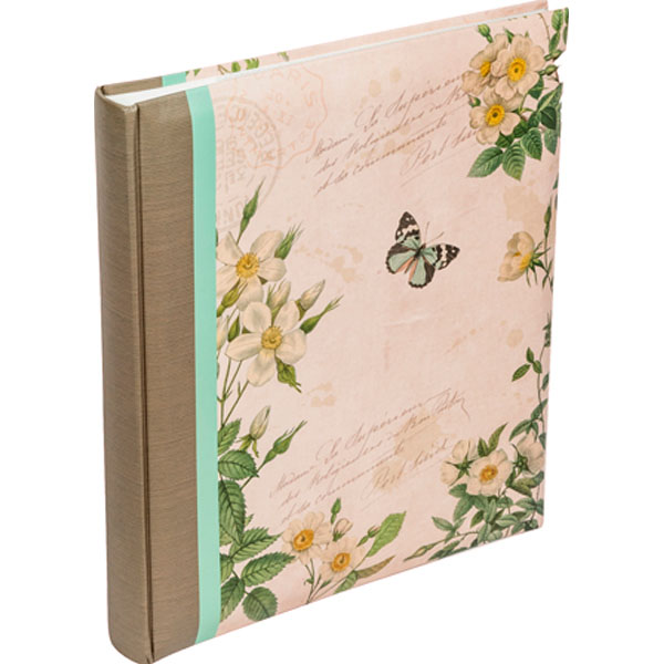 Butterfly and Floral Slip in Memo Photo Album - Butterfly Gifts