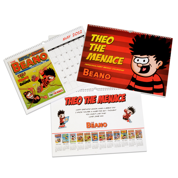Personalised Beano Calendar A3 Calendar