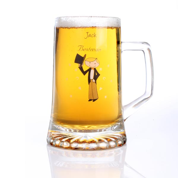 Cartoon Character Crystal Stern Pint Glass Brother of the Bride - Brother Gifts