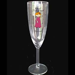 Cartoon Character Champagne Flute Mother of The Bride