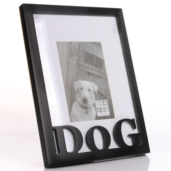 Dog Carved Wood Frame - Seek Gifts
