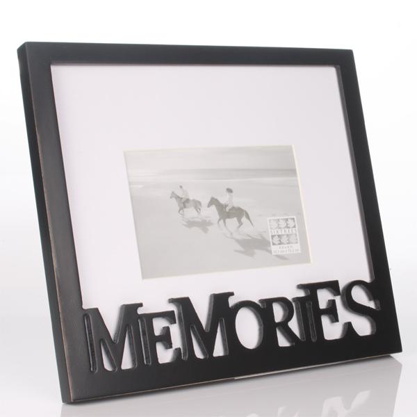 Carved Wood Memories Photo Frame - Memories Gifts