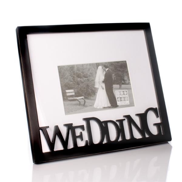 Carved Wood Wedding Photo Frame