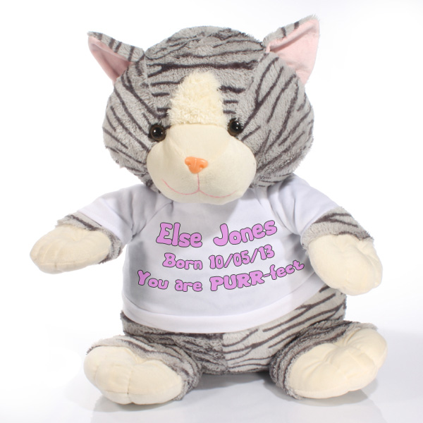 Extra Large Personalised Cat Soft Toy - Soft Toy Gifts