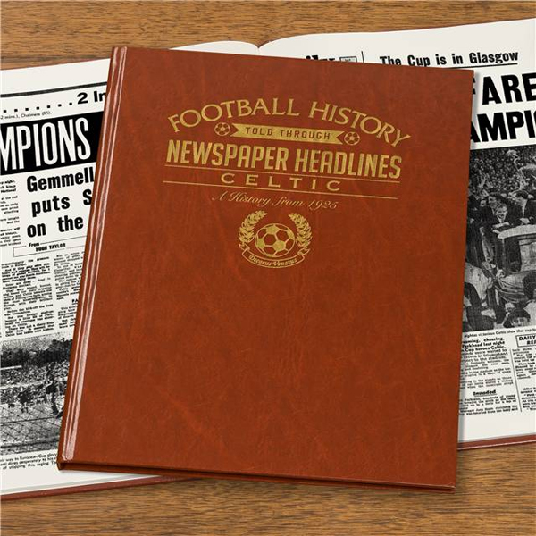 Personalised Celtic Football Book Embossed - Celtic Gifts